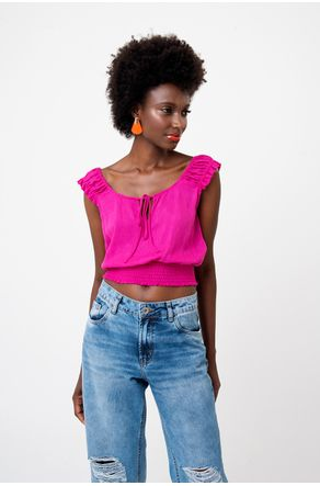Blusa-Cropped-Pink-Com-Lastex-Na-Cintura-close-frente