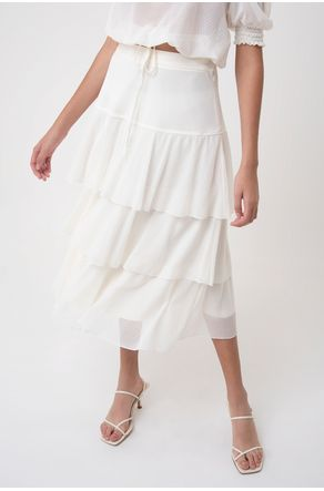 Saia-De-Tule-Com-Babados-Off-White-close-frente
