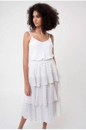 Saia-Midi-Off-White-de-Paete-com-Camadas--close-frente-