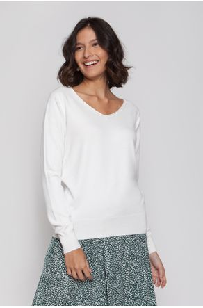 Blusa-Off-White-de-Tricot-Decote-v-close-frente