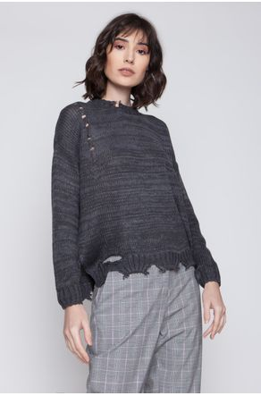 blusa-tricot-destroyed-amplo-chumbo-close-frente