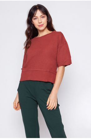 Blusa-Moletom-Terracota-Com-Cava-Deslocada-close-frente