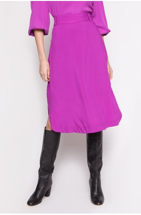 Saia-Midi-Fucsia-Com-Botoes-Laterais-close-frente