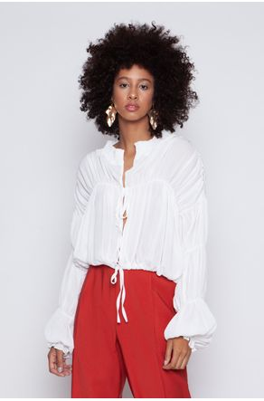 Blusa-Off-White-Franzida-Manga-Longa-close-frente