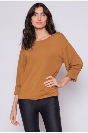 Blusa-Com-Pregas-na-Manga-Terracota-close-frente