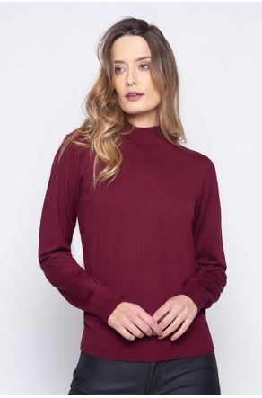 Blusa-Tricot-Com-Gola-Basica-Bordo-close-frente