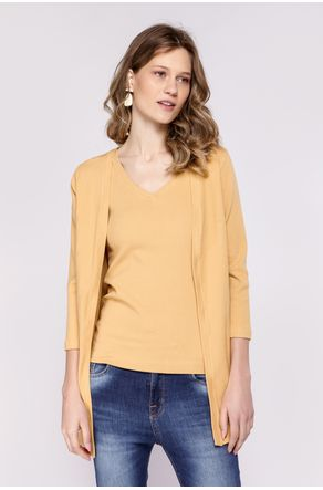 Twin-Set-Amarelo-Regata-E-Cardigan-Canelado-close-frente