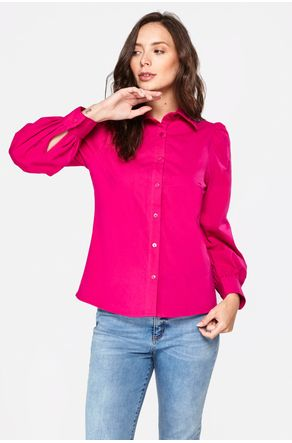 Camisa-Pink-Manga-Bufante-Close-Frente-