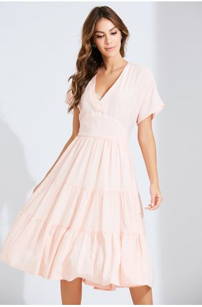 Vestido-Rosa-Midi-Decote-V-Close