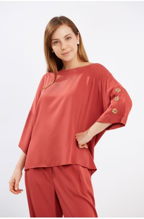 Blusa-Terracota-Com-Botoes-E-Vista-Nas-Costas-close-frente