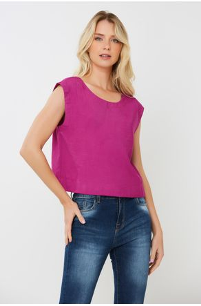 Regata-Cropped-Sarjada-Fucsia-Com-Rolete-Close-Frente