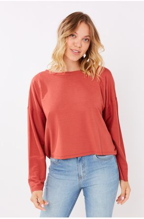 Blusa-Terracota-Cropped-Moletinho-Close