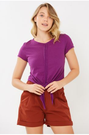 Camiseta-Fucsia-Com-Amarracao-close-frente