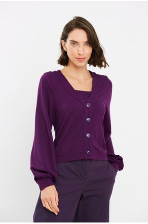 Twin-Set-Moletinho-Roxo-Cropped-Com-Botoes--Close