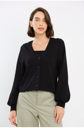 Twin-Set-Preto-Cropped-Com-Botoes-Close
