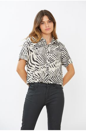 Camisa-Cropped-Animal-Print-Close-Frente