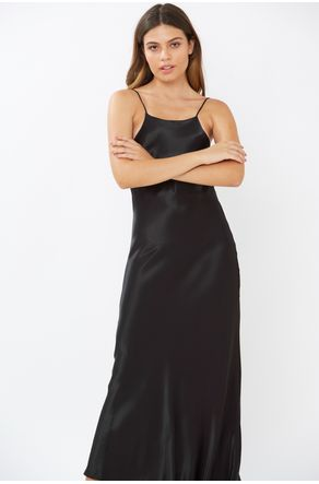 Vestido-Midi-Preto-Com-Decote-Nas-Costas-Close