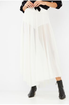 Saia-Midi-Tule-Off-White-Com-Combinacao-Close-Frente